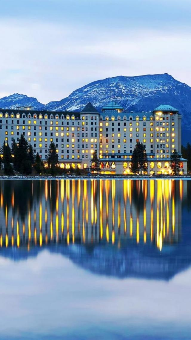 Fairmont Chateau Lake Louise, near Banff, Alberta, Canada.  We arrived at night, had a wonderful late dinner (the only ones in the elaborate dining room) and woke up the next morning in a corner room with an amazing view of Lake Louise.  Pays to do road trips when the kids have to be back in school!  No reservations!!!