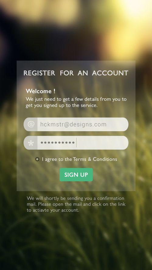Sign UP Screen App UI Designs | Inspiration | Graphic Design Junction