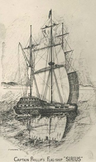 This is a picture of the flagship Sirius, which carried Captain Aurthur Philip first govermor of NSW. It was wrecked off Norfolk Island in 1790 and its wreck was given National Heritage status in 2011 - One of my great-great-great-great-grandfathers, Peter Hibbs, was an able seaman on the Sirius ....