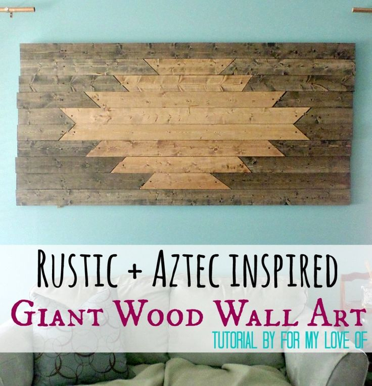Rustic and Aztec Inspired Giant Wood Wall Art