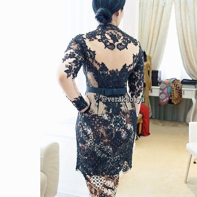 Fitting ... #kebaya #partydress #lace #swarovskicrystals #beads #batik #verakebaya ❤️❤️❤️