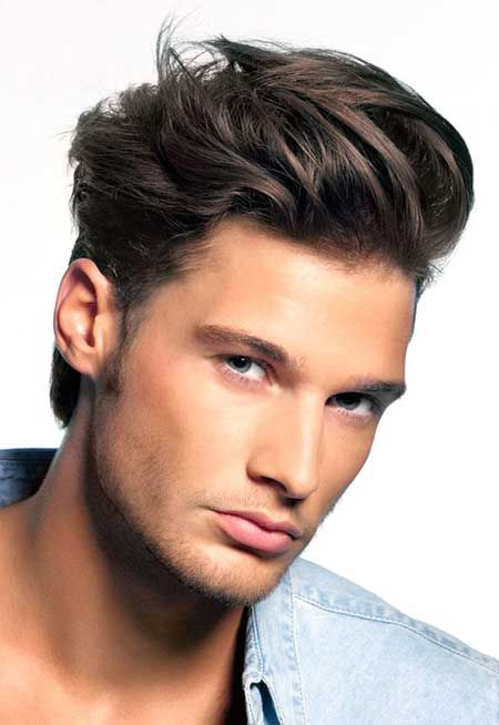 Image result for Blown Back Hairstyle For Men