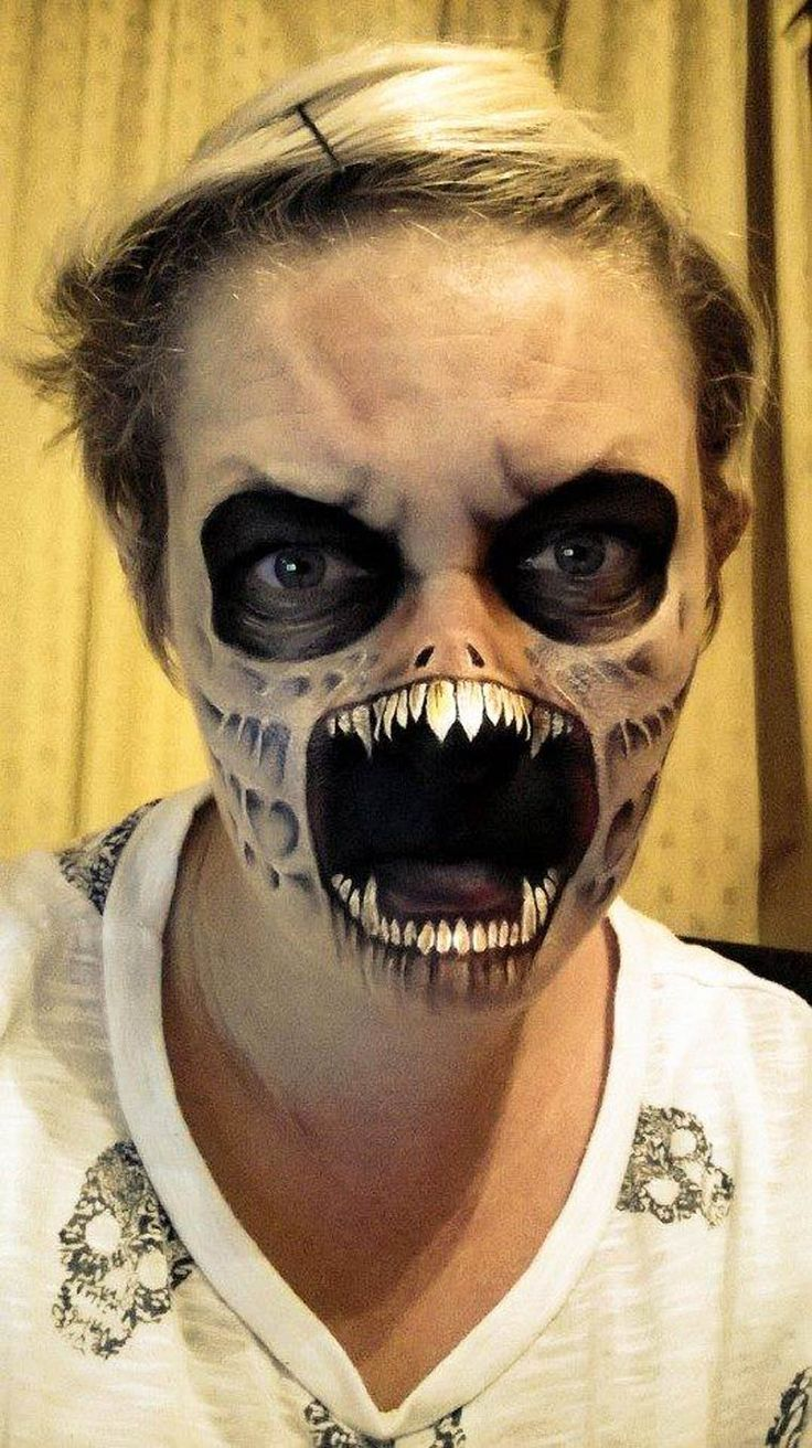 1000 id es sur le th me maquillage effrayant sur pinterest maquillage halloween scary - Maquillage halloween facile homme ...