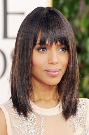 love this cut!: Hairstyles, Medium Length, Kerrywashington, State, Golden Globes, Hair Style, Haircut, Long Bob, Kerry Washington