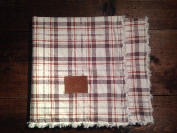 Plaid Stroller Blanket - Etsy - Backwoods Baby Shop