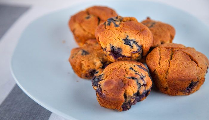 Quinoa and Blueberry Muffins | Good Chef Bad Chef