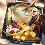 Vacherin Mont-d'or, frites de polenta - une recette Fromage - Cuisine