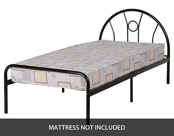 tesco direct valufurniture nova 3 0 inch single bed in black - Cheap Bed Frame