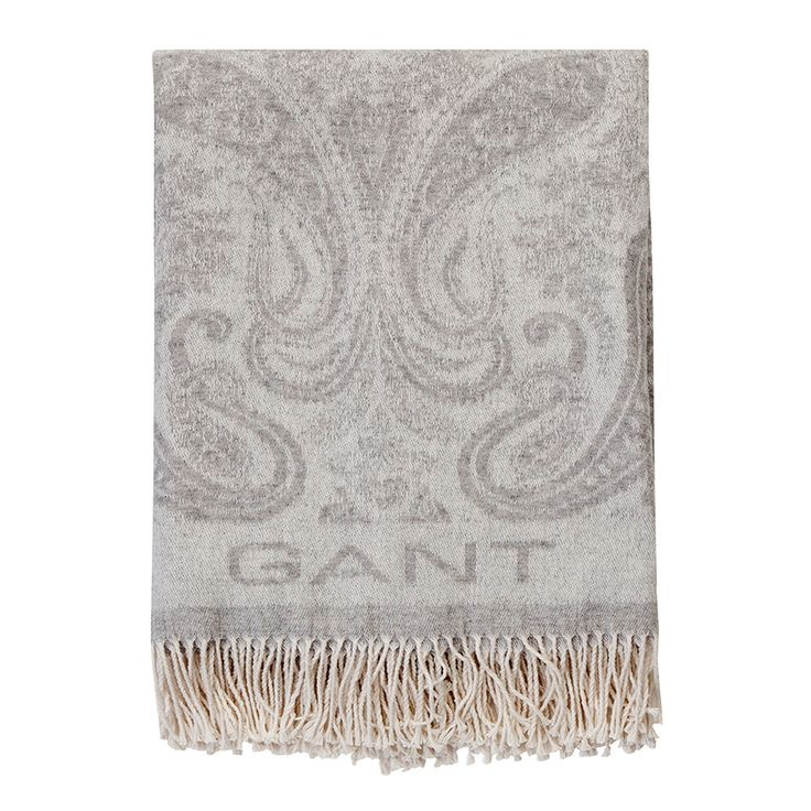 Discover the Gant Paisley Throw - 130x180cm - Grey at Amara