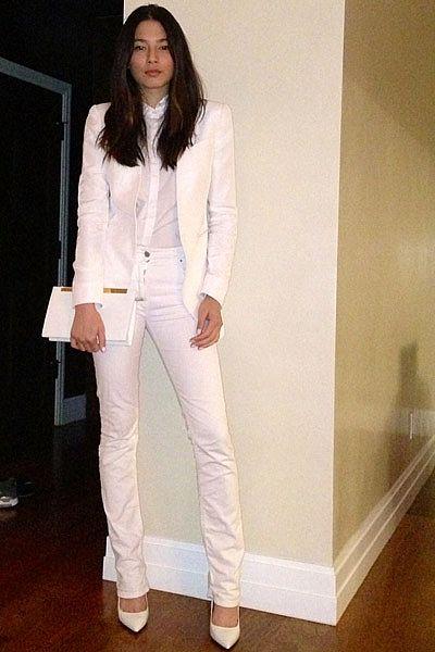 """Going out. Lover blazer and button up, Isabel Marant jeans, Saint Laurent clutch, Saint Laurent heels."""