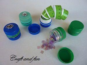 Riciclo Creativo - Craft and Fun: Riciclo creativo tappi in PET: realizziamo un piccolo contenitore