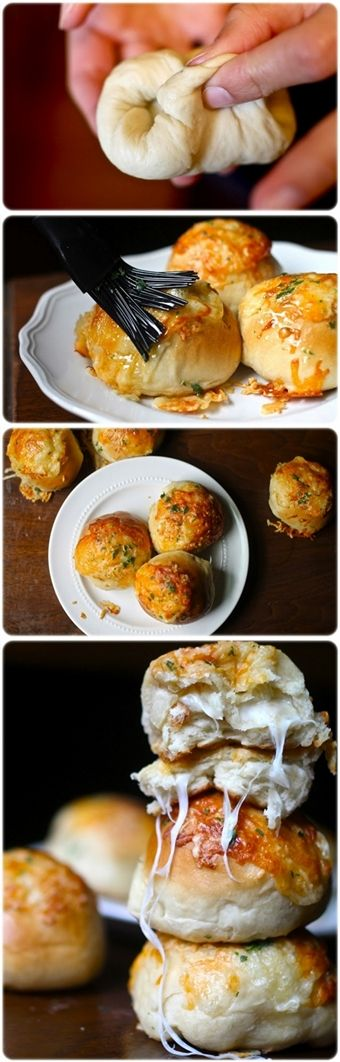 Peeta's Stuffed Cheese Buns  These are in the oven right now and smell awesome!