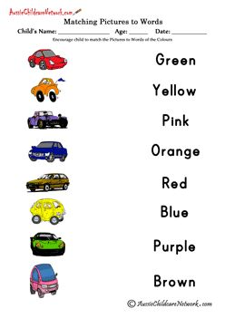 match colors to words this website has awesome worksheets. Black Bedroom Furniture Sets. Home Design Ideas