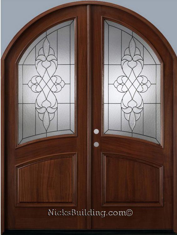 roundtop double door with real wood from door model name