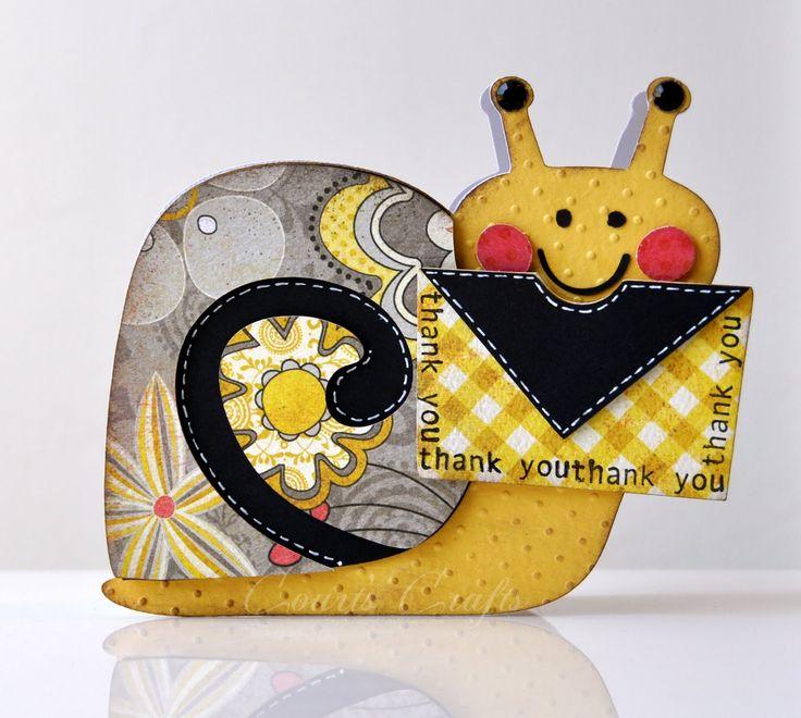 Snail Card - Birthday Bash Cricut Cartridge