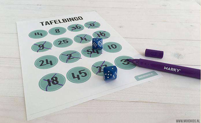 Spelenderwijs tafels leren met GRATIS printable | Moodkids