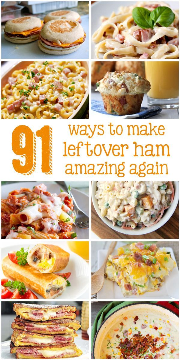 91 leftover ham recipes all in one place??? This is the definitive guide to what you can do with your leftover ham. I want to make a ham now just so I have the leftovers to try in these dishes. Find your new favorite ham dish now!