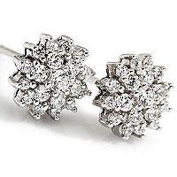 Stella | Klassisk og vakker rosettørepynt med diamant - Stella Diamantørepynt 0,54ct tw/vs