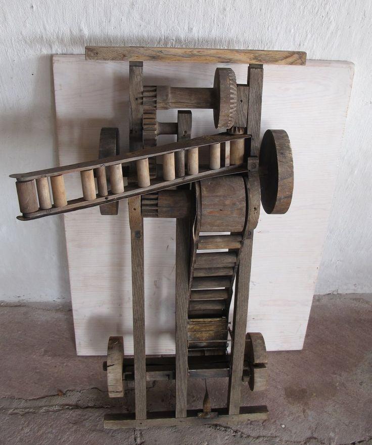 Salesman's Sample of A Mechanical Wooden Potato Digger