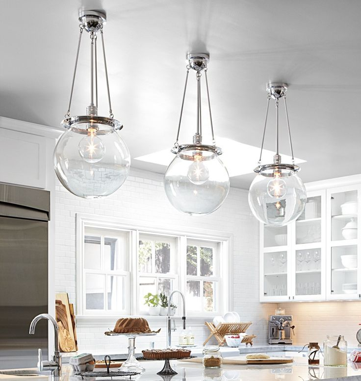97 best stylish statement lighting images on pinterest arquitetura classic pendant fixtures with large clear globe shades impressive in threes mozeypictures Gallery