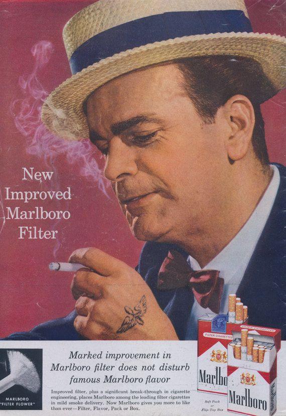 1958 Marlboro Cigarettes Ad Man Smoking Barber Shop ...