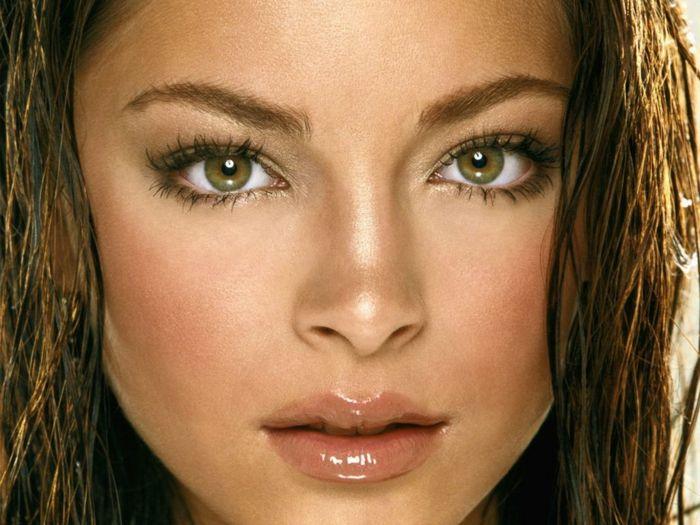 Maquillage pour yeux vert maquillage des yeux verts ligneur noir