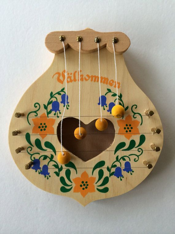Swedish Door Harp Charming w Heart at Center by VintageByBeth & 70 best Swedish Things images on Pinterest | Harp Scandinavian ...