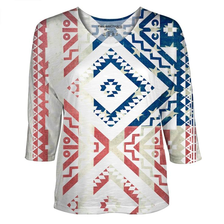 Vintage Ethnic Americana all over print. #american #ethnic #native #americanflag #usa #fashion #dolman #sublimation