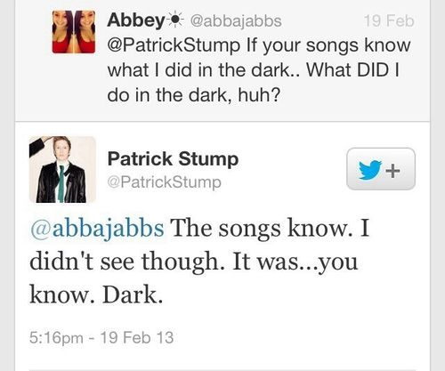"""It was...you know. Dark."" LOL. Love Patrick."