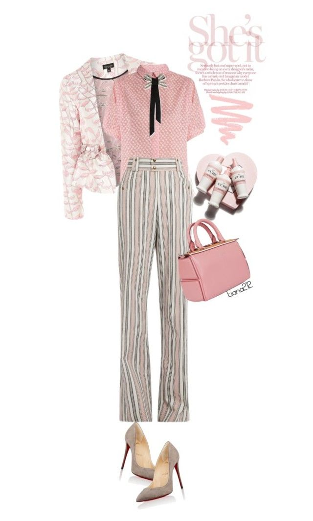 """""""Striped pants"""" by tiana212 ❤ liked on Polyvore featuring Topshop, Thierry Colson, Isabel Marant, Emilio Pucci, Lanvin and Christian Louboutin"""
