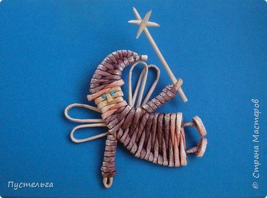 Поделка изделие Плетение Снегирь новогодний и всё-всё-всё  Трубочки бумажные фото 13