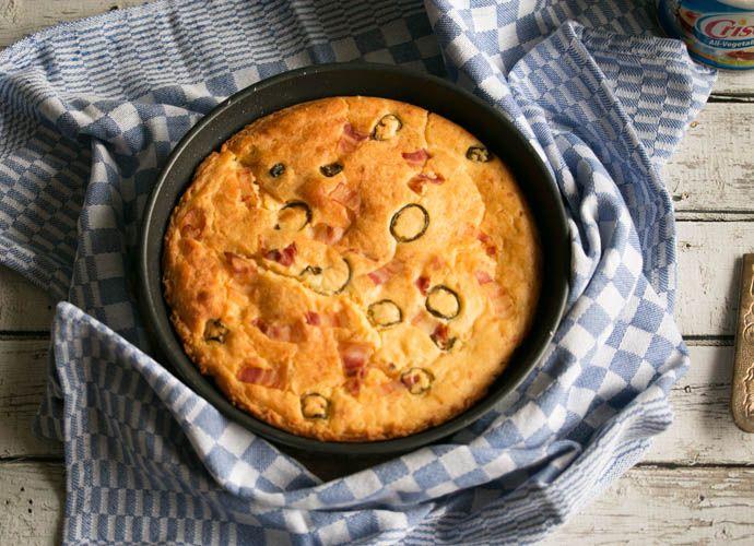 Maïsbrood met spek en jalapeño