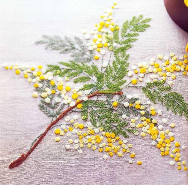 Japanese-Emrboidery-Yellow-Flowers Looks like wattle to me :)