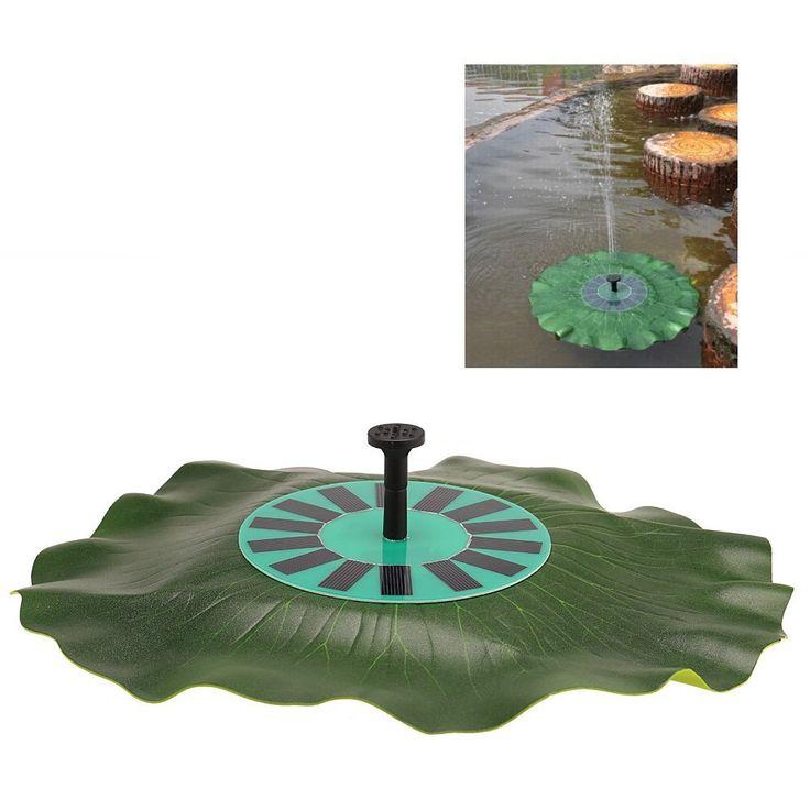 Anself Kit de Bomba de agua de energía solar forma de hoja de loto de panel solar monocristalino bomba de fuente flotante universal sin escobillas de ahorro de energía respetuoso del medio ambiente: Amazon.es: Jardín