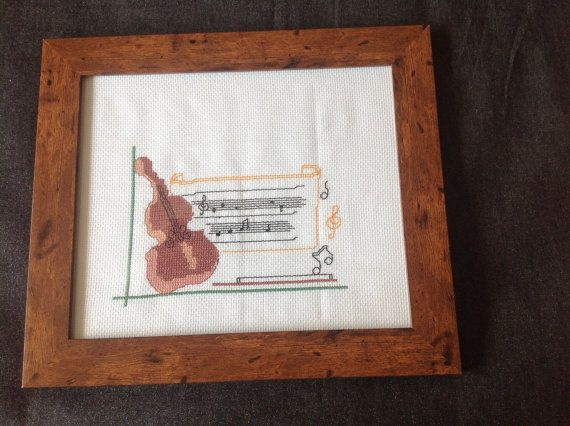 Cross Stitch Picture FrameKids GiftRoom by MarianaPandi on Etsy