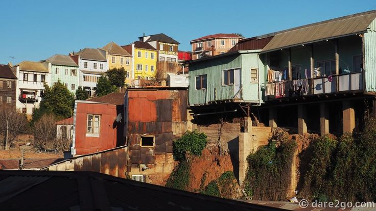 The rickety and sometimes derelict houses of Valparaiso hang precariously to the steep hill sides.Overall the town has real charm and lots of beautiful street art. It's a pleasure to walk around, although some parts can be a little unsafe (nothing worse than some pickpockets).