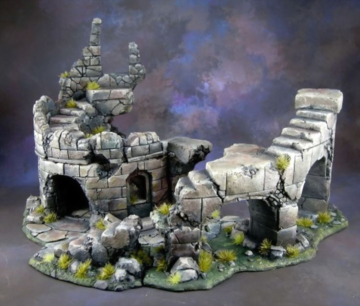 Warhammer hero quest mordheim decor tour en ruine en 4 for Decor 40k