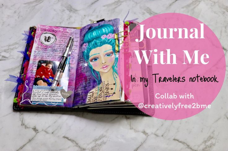 Journal with me YouTube collaboration with @creativelyfree2bme, this was a collaboration journal page over on youtube but you can also check out the blog post to find out more about supplies and techniques used. The journal girl was created with mixed media - acrylic paint, mermaid markers, coloured pencil and posca.