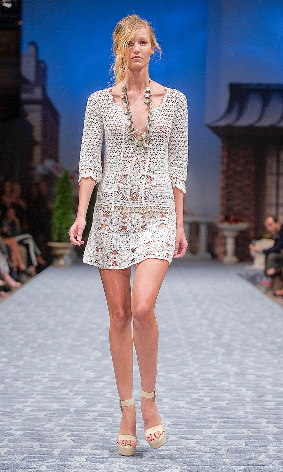 CROCHET moda exclusiva crochet vestido de verano  por LecrochetArt, $500.00