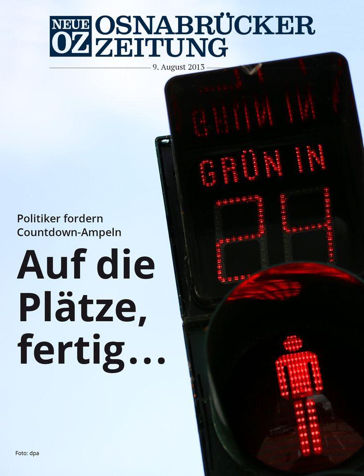 Können Countdown-Ampeln die Verkehrssicherheit erhöhen? Politiker und Experten sind sich nicht einig - das lesen Sie in der iPad-Ausgabe vom 9. August 2013.