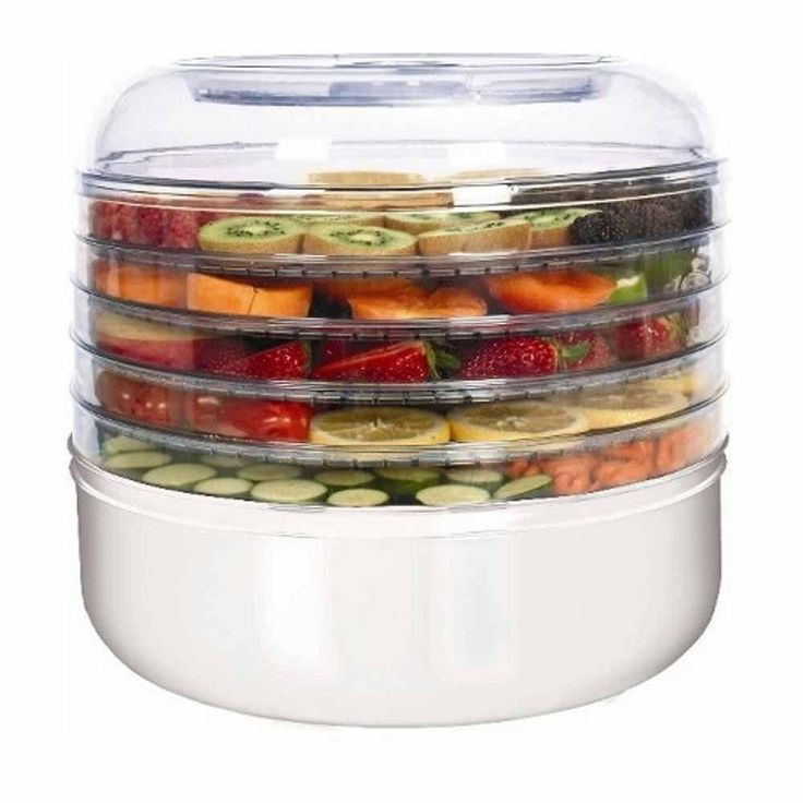 5-Tray Electric Food Dehydrator, White
