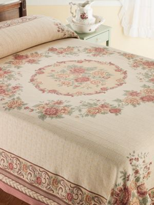 Tapestry Bedspread Made With Pre Shrunk Pure Woven Cotton