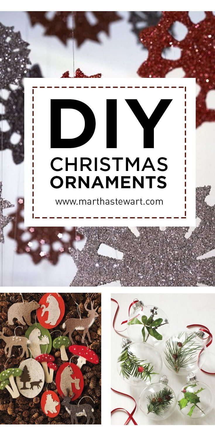 Bristle brush ornaments - Diy Christmas Ornament Projects