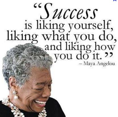 """Success is truly liking who you are! @Sarah """"Rockin"""" Robbins"""