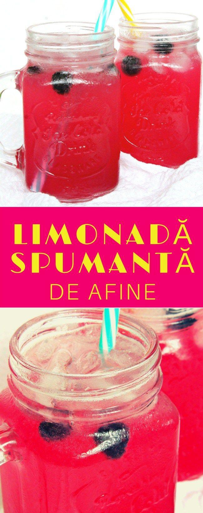 LIMONADA SPUMANTA DE AFINE - Există o modalitate mai bună de a te răcori în această vară decât această delicioasă, revigorantă limonada spumanta de afine?