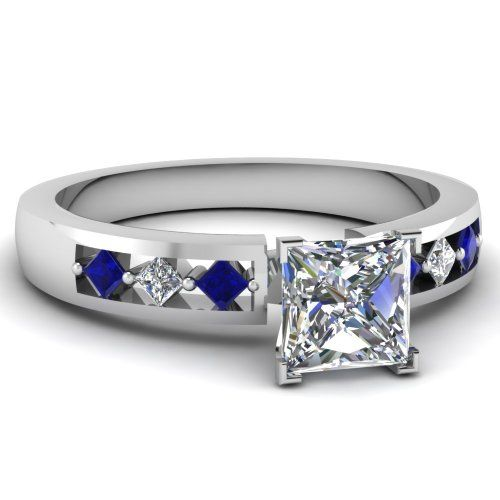 Engagement ring with sapphires
