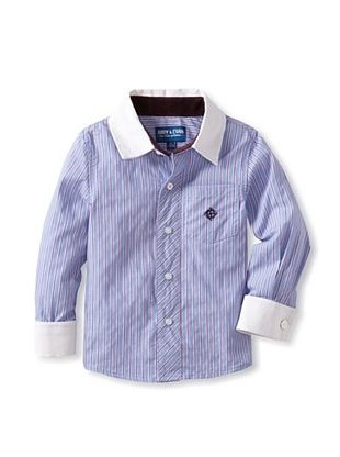 63% OFF Andy & Evan Boy's 2-7 The Fiscal Cuff Shirt (Light/Pastel Blue)