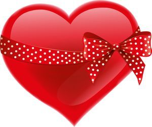 Red bow heart