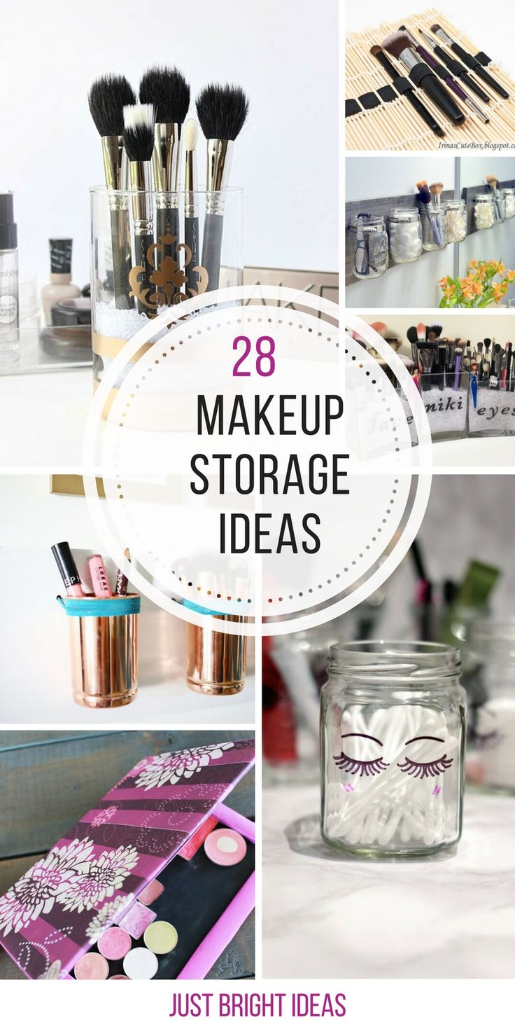 Best Ideas About Diy Makeup Storage On Pinterest Diy Makeup - Small bathroom makeup storage ideas