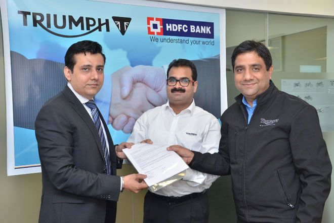 #Triumph Motorcycles #India has tied up with HDFC Bank to ensure finance option for its potential buyers.